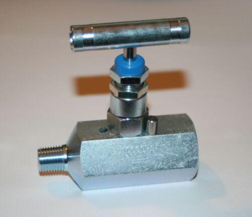 """1/4"""" NPT  Carbon Steel Needle Valve Hydraulic  (10,000 Psi) HV-CS-1/4-HS-180-MXF"""
