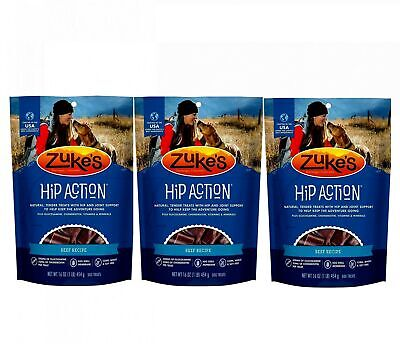 Zuke's Hip Action with Glucosamine and Chondroitin 3 Packs