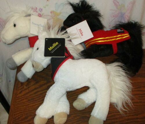 Wells Fargo Plush Horses Mike Mollie Snowflake w/ tags  Lot of 3