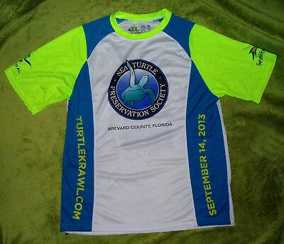 0c543453b7a4b Sea TURTLE KRAWL Florida Marathon 2013 Mens Size M Leslie Jordan Shirt  Jersey