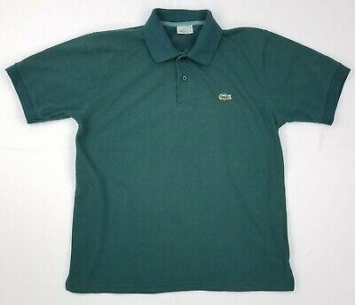 Lacoste Men's Green Short Sleeve Croc Polo Shirt Size 5 (Large)