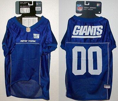 NFL New York Giants Football Dog Puppy Team Fan Gear Jersey Mesh Pet Shirt - XL Dog Puppy Football Jersey