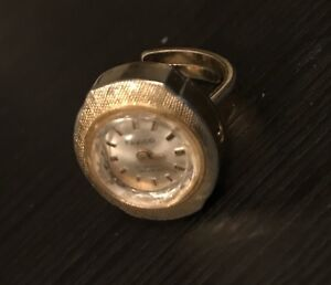 Vintage ring watch 1970s