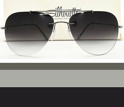 Silhouette Rimless Aviator Sunglasses Rx-able Prescription Ready 8667 60 (Prescription Sunglasses Aviators)