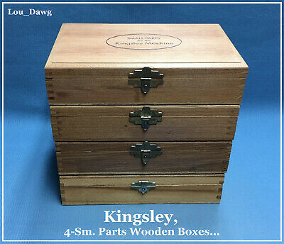 Kingsley Machine 4-sm. Parts Wooden Boxes Hot Foil Stamping Machine