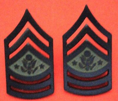 US Army - E-10 Sergeant Major of the Army Chevrons Subd Mtl 1 Pair