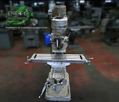 Bridgeport Series J-head Vertical Milling Machine 1 Hp 9 X 42 Table Id M-067