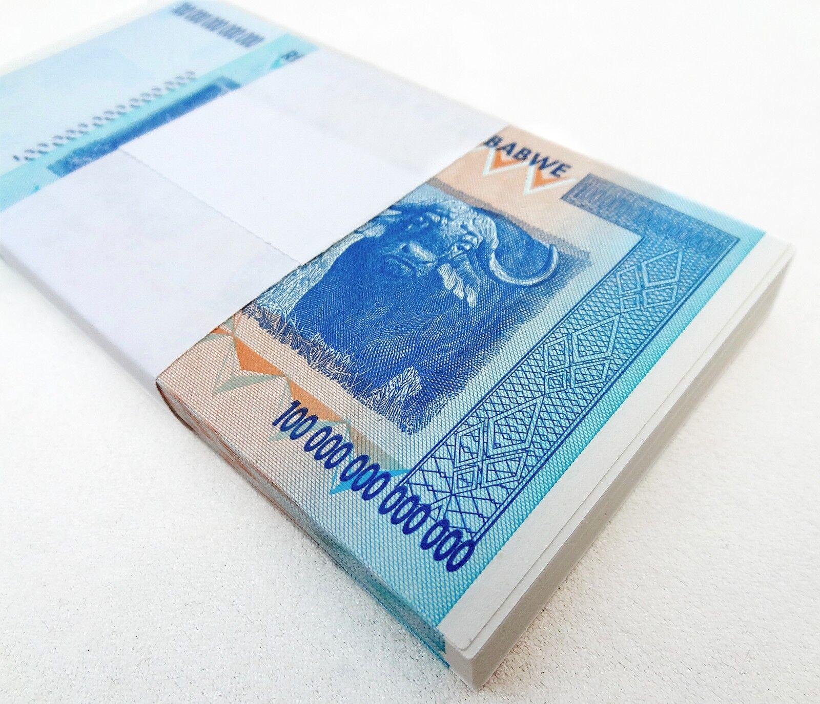ZIMBABWE 100 TRILLION DOLLARS AA 2008 SERIES P-91 UNC - HALF BUNDLE, 50 NOTES