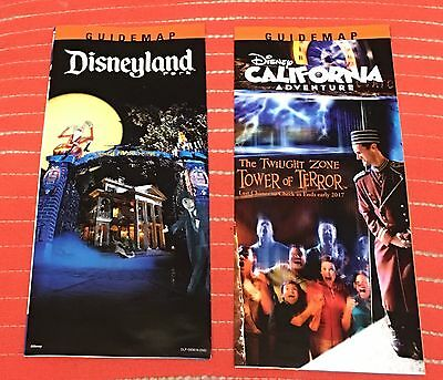 NEW 2016 DISNEYLAND & CALIFORNIA ADVENTURE HALLOWEEN PARK MAPS ~ IN HAND RTS (Halloween California Adventure)