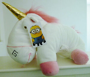 RARE-16-JUMBO-DESPICABLE-ME-2-AGNES-UNICORN-PLUSH-PILLOW-TOY-NWT-US-SELLER