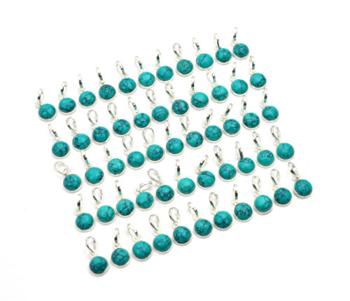 WHOLESALE 55PC 925 SOLID STERLING SILVER TURQUOISE PENDANT LOT