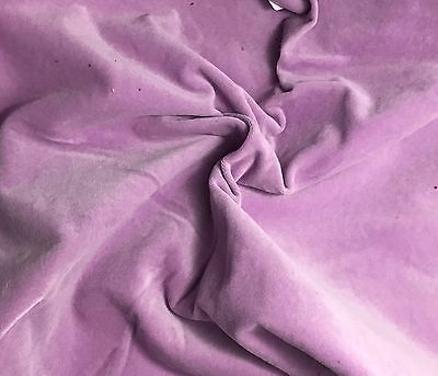 Hand Dyed Cotton VELVETEEN Fabric LILAC fat 1/4 18