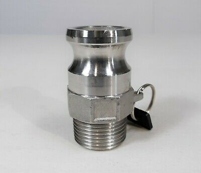 1 Male Npt X 1 Male Cam Lock Adaptor Fitting 316 Stainless Steel 100-f-ss