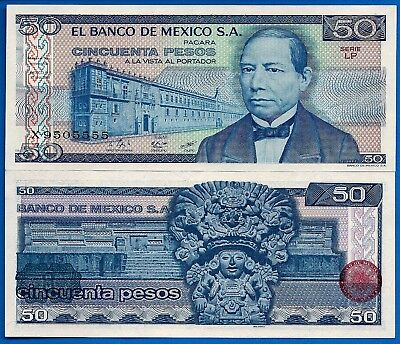 Mexico P-73 50 Pesos Year 27.1.1981 Uncirculated Banknote