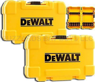 NEW 2-Pk DeWalt TOUGH Cases & 8 Bit Racks for Bits, Fits P2 Phillips T25 & More
