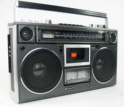RARE SANYO M9994 VINTAGE STEREO BOOMBOX SERVICED RADIO CASSETTE * SUPERB!