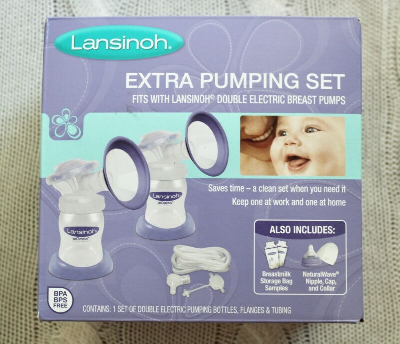 New in Box Sealed LANSINOH Extra Pumping Set Double Electric Breast Pump Bags