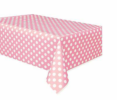 Pale Pink and White Polka Dot | Dots | Party Tablecover | Tablecloth 1-5pk](Pink And White Polka Dot Paper Plates)
