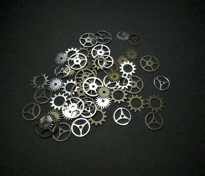 50x Metal Jewelry Cogs Gears Gear Accessories Craft Making Steampunk