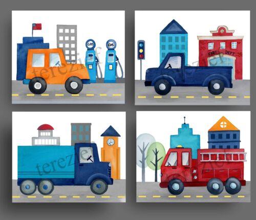 transpoprtation wall art decor for boy car truckkids nursery bedroom