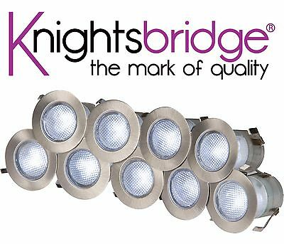 Knightsbridge IP65 230V 10x 0.2W LED Integrated Kit 10x Decking White Light Lamp