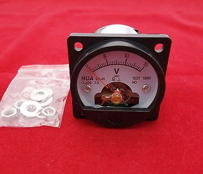 Dc 0-15v Analog Voltmeter Analogue Voltage Panel Meter So45 Directly Connect