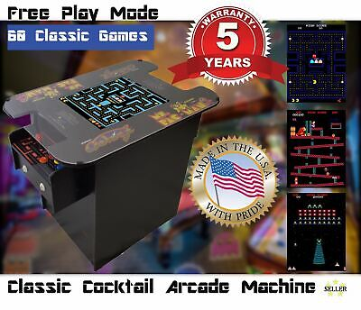 🔥Cocktail Arcade,60 Games, Commercial Grade, Plug and Play, Fully Assembled