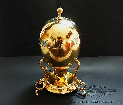 Jugendstil, Eierkocher, Coddler, 19.Jahrhundert, 24 Karat vergoldet,Handarbeit