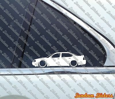 2X Lowered car stickers - for Chevrolet Impala sedan (8th gen) 2000-2005 w/ wing
