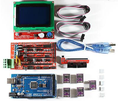 Ramps 1.4 Setkit Fr Reprap 3d Drucker Mega 2560 5xdrv8825 12864 Lcd Arduino