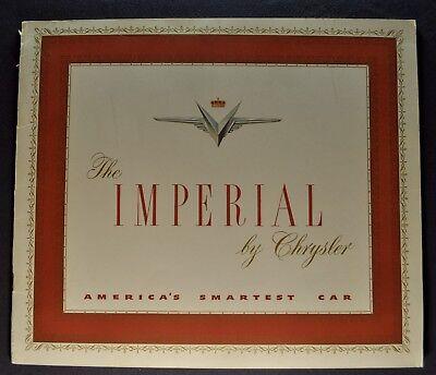 1951 Chrysler Imperial Catalog Sales Brochure Newport Nice Original 51
