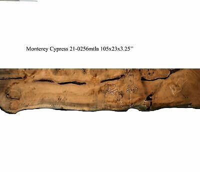 Live Edge Wood Mantel Rustic Counter Bar Monterey Cypress 21-0256mtl - $850.00