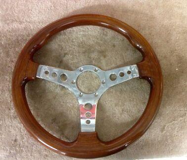 Wood grain steering wheel  Paralowie Salisbury Area Preview