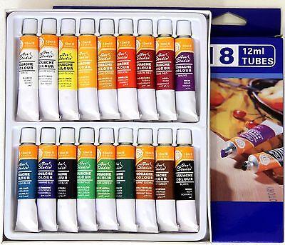 (29,98€/L) | 36 Tuben feine Magi® GOUACHE -Farben, 2 Sets je 12ml x 18 Farbtöne