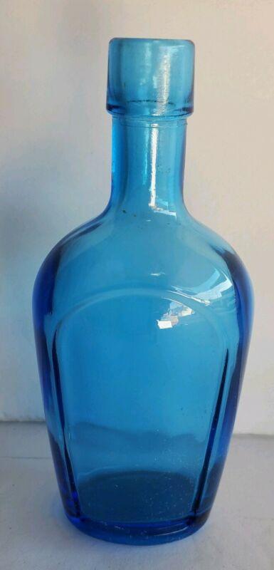 Vintage Blue Glass WEATON Miniature Bottle