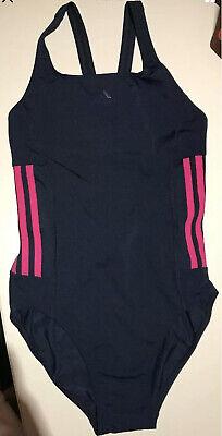 Damen MÄDCHEN Adidas Sport BADEANZUG Schwimmanzug Bikini Gr. 36 S Blau Pink Neu