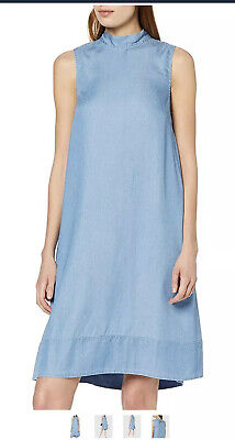 Selected Femme Sflnoma Tie Dress Denim Sleeveless Summer RRP €70