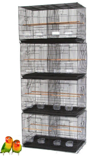 "4 Large 30"" Breeding Bird Cage Aviaries Canaries Bird Cages With Center Divider"