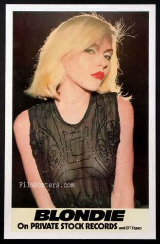 BLONDIE DEBBIE HARRY IN SEE-THROUGH BLOUSE VINTAGE 1976 PROMO POSTER