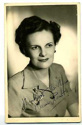 NANCY POULTNEY Vintage  Photo  Signed 1940'S, RARE!