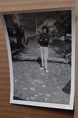 Photograph Social History Lady On Forest Track Vintage Fashions  1960's