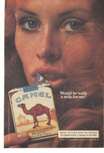 1973 Camel Turkish & Domestic Blend Cigarettes Advertisement