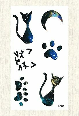 US SELLER, cat moon paw temporary tattoo body of art tattoo](Cat Paws Tattoo)