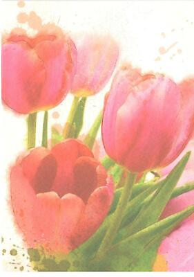 Easter Verses For Cards (Blank Verse Card For All.Tulip Design For Birthday,Get Well, Thanks, Easter)
