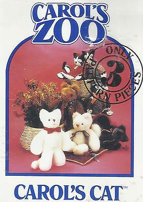 Carol's Zoo Craft Pattern-Carol's Cats-Only 3 Pattern Pieces (Zoo Craft)