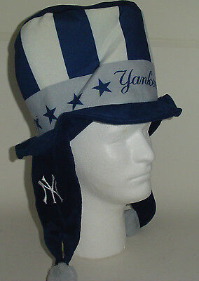 New York Yankees MLB DANGLE  TOP HAT Theme adult HAT Winter PLUSH Tailgate PArty (New York Theme Party)