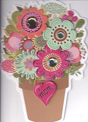 CARD NIP (MSRP $7.95) CUT-OUT FLOWER POT CARD (A) (Mothers Day Flower Pot)