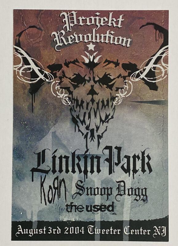 2004 Projekt Revolution Concert Poster Linkin Park Korn Snoop Dogg The Used