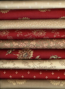 Rouenneries By French General For Moda Fabric 9 Fat Quarters Fat Quarter Bundle