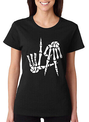Comic Costume Ideas (Skeleton Hands LA Sign Funny Halloween Costume Idea Women's)